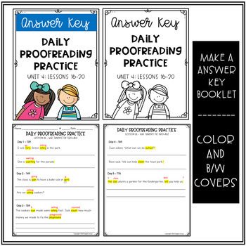 Daily Proofreading Practice - Aligns w/ Gr.2 Houghton Mifflin Journeys: Unit 4