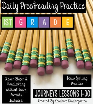 Daily Proofreading Practice: Journeys First Grade
