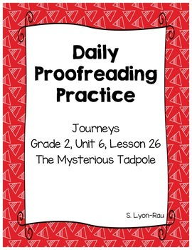 Daily Proofreading Practice - Journeys, Lesson 26, The Mys