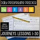 Daily Proofreading Practice: Journeys Second Grade