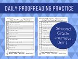 Daily Proofreading Practice - Second Grade Journeys Unit 1 Lessons 1-5 - DOL