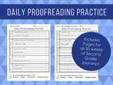 Daily Proofreading Practice - Second Grade Journeys Units 1-6 Lessons 1-30 - DOL