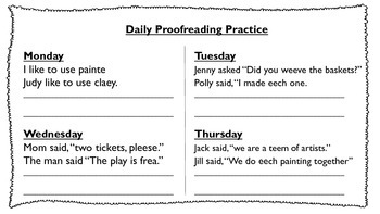 Daily Proofreading Unit 3 Journeys