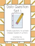 Daily Question Journal Prompt Writing Set I