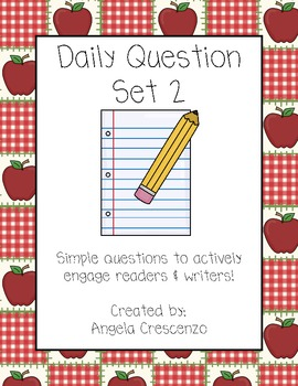 Daily Question Journal Prompt Writing Set II