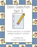Daily Question Journal Prompt Writing Set III