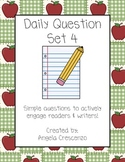 Daily Question Journal Prompt Writing Set IV