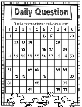 Daily Questions - First Grade Part 1