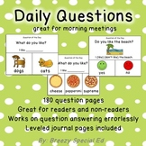 Special Education Visual Daily Questions for the Year for
