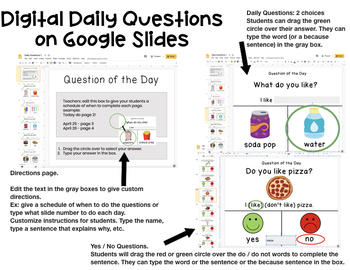 Visual Daily Questions for the Year for Special Education (Question of the Day)
