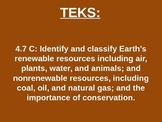 """Daily Quick Checks, """"Earth's Resources"""" (Science TEKS 4.7C)"""