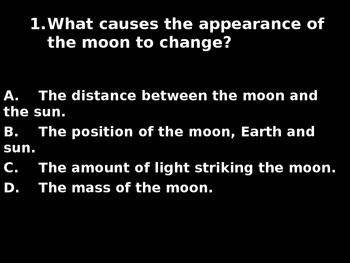 "Daily Quick Checks, ""Lunar Cycle"" (Science TEKS 4.8C)"