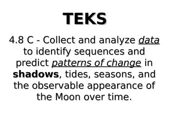 "Daily Quick Checks, ""Shadows"" (Science TEKS 5.8A)"