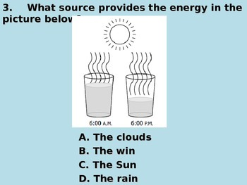 "Daily Quick Checks, ""Water Cycle"" (Science TEKS 4.8B)"