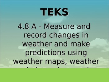 "Daily Quick Checks, ""Weather"" (Science TEKS 4.8A"
