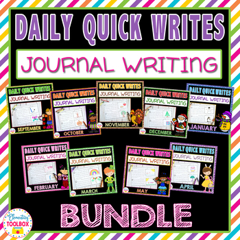 Daily Quick Writes Bundle For The Whole Year