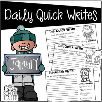 January Daily Quick Writing Prompts