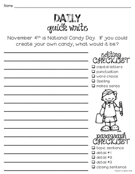 Daily Quick Writes {NOVEMBER}