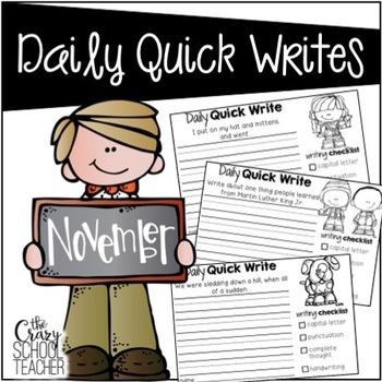 November Daily Quick Writes