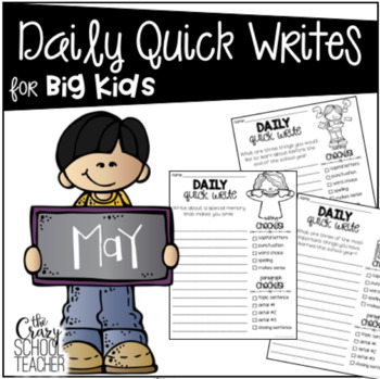 Daily Quick Writes for BIG KIDS - May