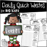 December Daily Quick Writing Prompts for BIG KIDS