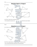 Daily Quiz: Angles in a Triangle II