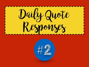 Daily Quote Journal: Month 2