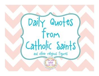 Daily Quotes From Catholic Saints - Blush