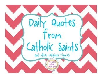 Daily Quotes From Catholic Saints - Pink