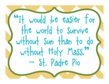 Daily Quotes From Catholic Saints - Yellow