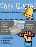 Daily Quotes Student Responses: A Year of Bell Ringers - 200 days