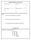 Daily Rational Number Practice (5-day packet)