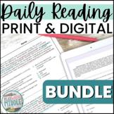 ELA Test Prep Reading Comprehension Passages & Questions Bundle Bell Ringers