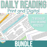 Middle School Bell Ringers Reading Comprehension Passages & Questions Bundle