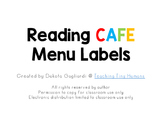 Daily Reading CAFE Menu Labels
