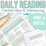 Daily Reading: Central Ideas and Making Inferences