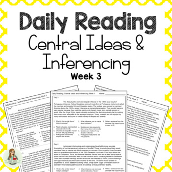 Daily Reading: Central Ideas and Inferencing Week 3