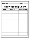 Daily Reading Chart