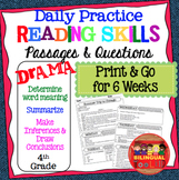 Daily Reading Comprehension Drama Passages Grade 4