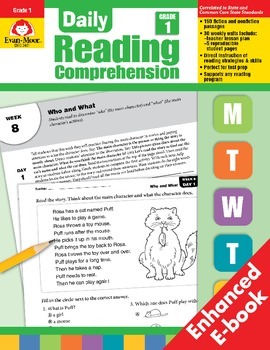 Daily Reading Comprehension, Grade 1 - Teacher's Edition, E-book