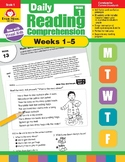 Daily Reading Comprehension, Grade 1, Weeks 1-5