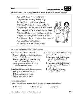 Daily Reading Comprehension, Grade 1, Weeks 16-20 | TpT
