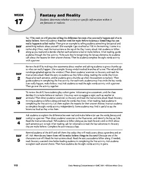 Daily Reading Comprehension, Grade 1, Weeks 16-20