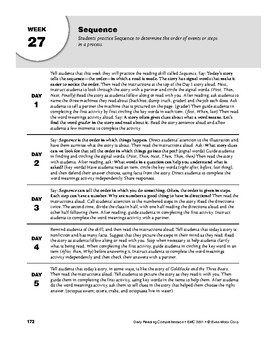 Daily Reading Comprehension, Grade 1, Weeks 26-30