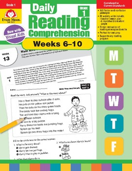 Daily Reading Comprehension, Grade 1, Weeks 6-10
