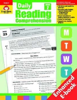 Daily Reading Comprehension, Grade 2 - Teacher's Edition, E-book