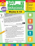 Daily Reading Comprehension, Grade 2, Weeks 6-10