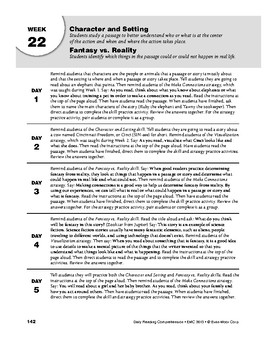 Daily Reading Comprehension, Grade 3, Weeks 21-25
