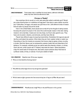 Daily Reading Comprehension, Grade 4, Weeks 26-30