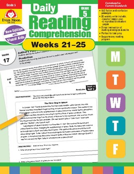 Daily Reading Comprehension, Grade 5, Weeks 21-25